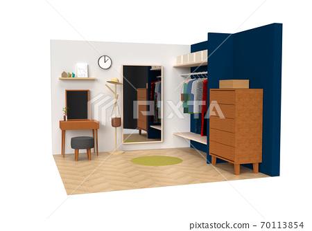 옷장과 화장대가있는 방 70113854