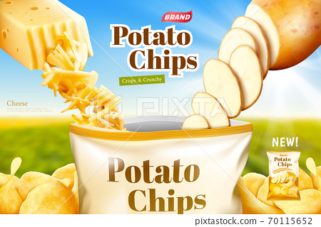 Cheese flavor potato chips ads 70115652
