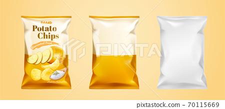 Potato chips package design 70115669