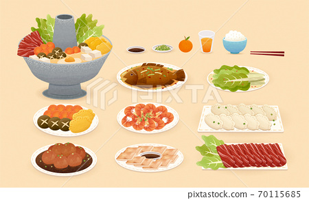 Chinese new year food element 70115685