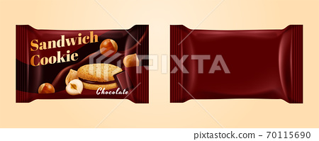 Chocolate cookie package 70115690