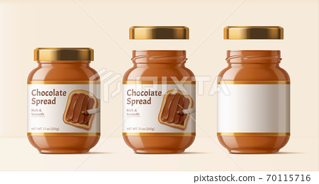 Chocolate spread package design 70115716