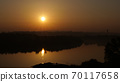 Sunrise Timelapse with Sunlight Reflections on the Danube River in Belgrade Serbia 70117658