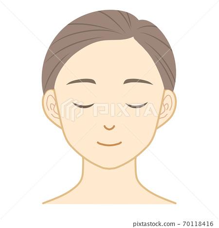 女性的臉 70118416
