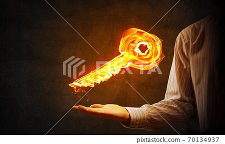 Key fire sign 70134937