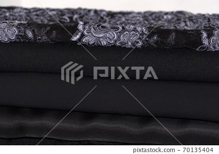 black wedding woman dress fabric detail 70135404