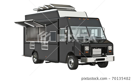 Food truck eatery cafe 70135482