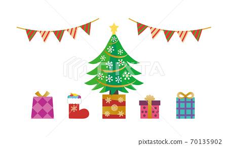 소재 - 트리와 선물들 70135902