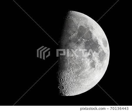 Moon detailed photo with craters 70136443