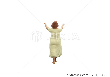 Sleepwalker Isolated on white background with clipping path 70139457