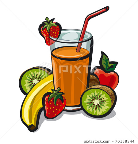 fruits cocktail smoothie 70139544