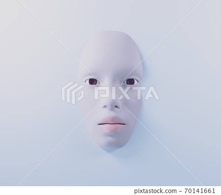 pale woman face on a milky surface, Snow White portrait, lie in the bath, 3d illustration 70141661
