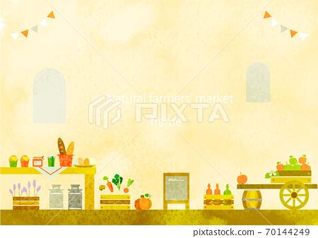 歐式自然市場背景圖手繪水彩紋理 70144249