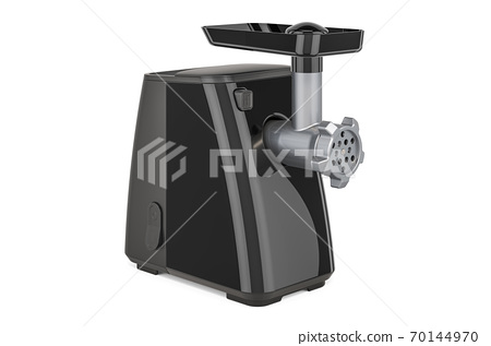Black electric meat grinder, 3D rendering 70144970