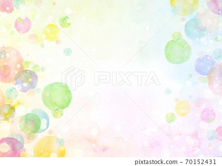 수채화 질감 무지개 비누 방울 70152431
