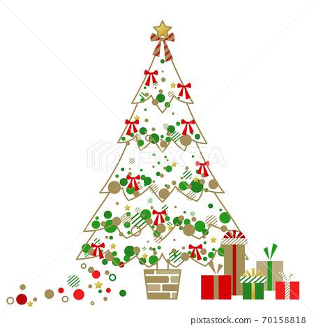 白色聖誕樹 70158818