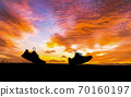 Concept design for Trail running at the sunset time 70160197