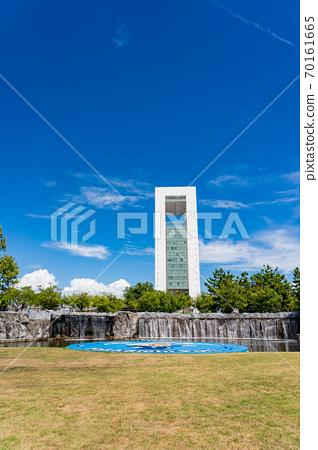 미에현 욧 카이 치시 욧카 이치 항 포트 빌딩과 霞港 공원 70161665