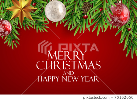 Holiday New Year and Merry Christmas Background. Vector Illustration 70162050