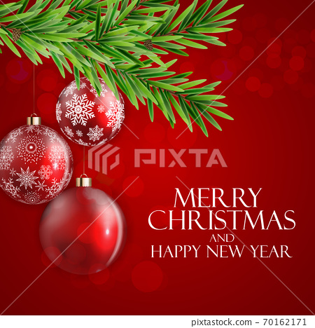 Holiday New Year and Merry Christmas Background. Vector Illustration 70162171
