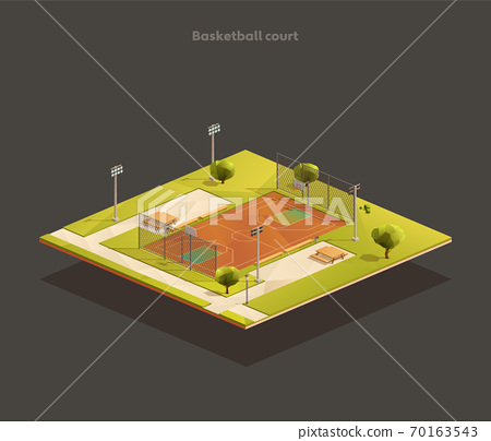 Isometric Basketball court arena 70163543