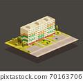 Soviet Block of Flats isometric illustration 70163706