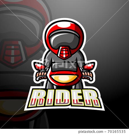 Rider mascot esport logo design 70165535