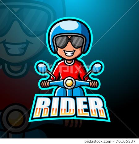 Rider mascot esport logo design 70165537
