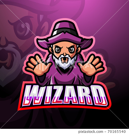 Wizard mascot esport logo design 70165540