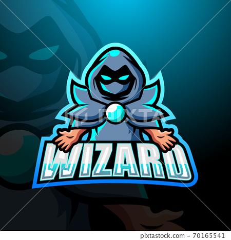 Wizard mascot esport logo design 70165541