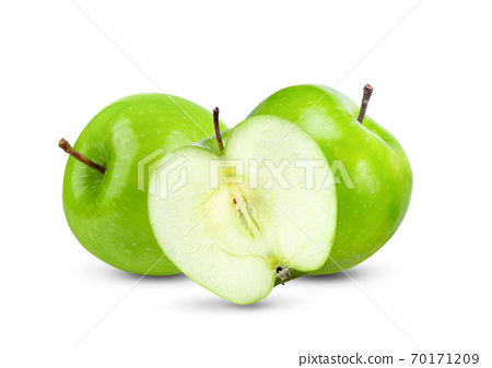 Green apple on white Background 70171209