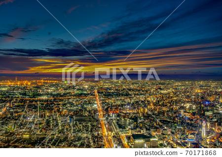 [大阪]大阪市的夜景 70171868
