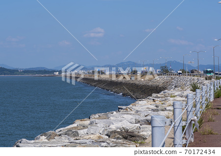 Sihwa seawall, Ansan city, Gyeonggi-do 70172434