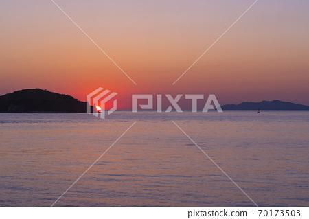 Sunset, songdo, incheon 70173503