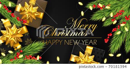 christmas gift banner 70181394