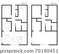 Floor plan of condominium / house 70190451