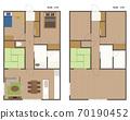 Floor plan of condominium / house 70190452