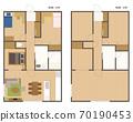 Floor plan of condominium / house 70190453