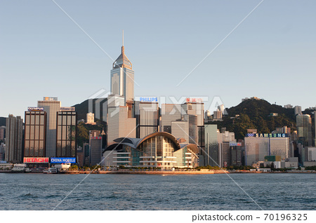 3 Aug 2007 Victoria harbour and Convention Center, Hong Kong, China 70196325