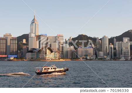 3 Aug 2007 Victoria harbour and Convention Center, Hong Kong, China 70196330