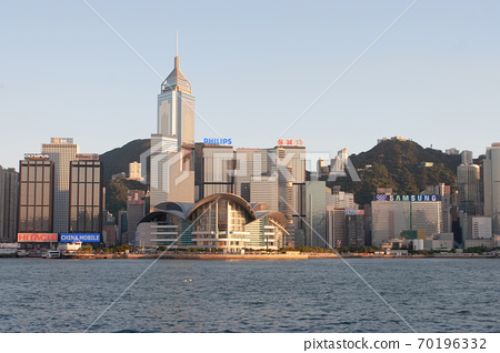 3 Aug 2007 Victoria harbour and Convention Center, Hong Kong, China 70196332