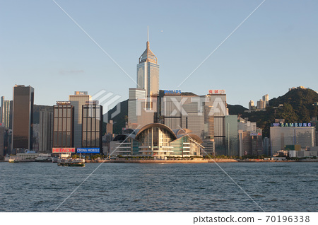 3 Aug 2007 Victoria harbour and Convention Center, Hong Kong, China 70196338