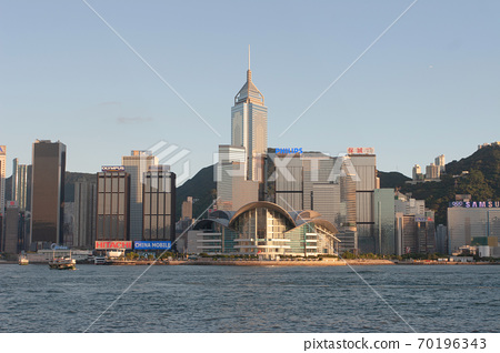 3 Aug 2007 Victoria harbour and Convention Center, Hong Kong, China 70196343