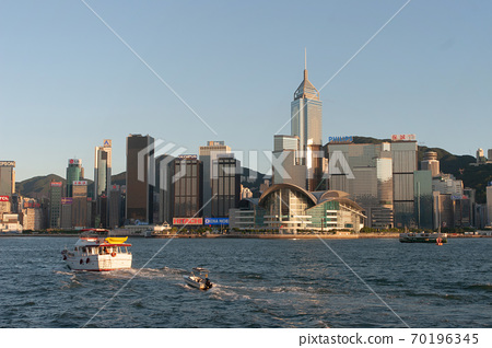 3 Aug 2007 Victoria harbour and Convention Center, Hong Kong, China 70196345