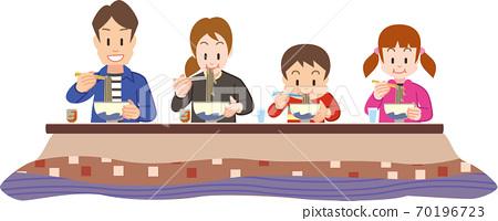 一家四口吃新年蕎麥麵 70196723