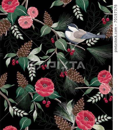 Vector illustration of a seamless pattern in winter 70197376