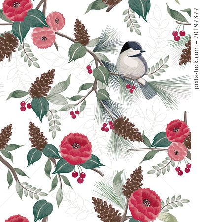 Vector illustration of a seamless pattern in winter 70197377