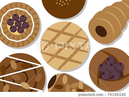 甜麵包的插圖 70198180