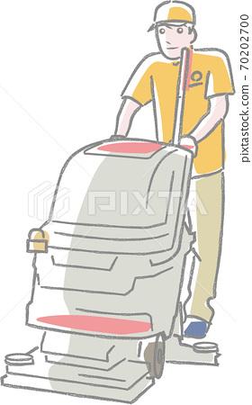 진공 청소기를 사용 청소원 70202700