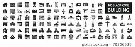 世界各地的建築圖標集 70206639